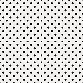 Seamless white textured paper with black dot pattern