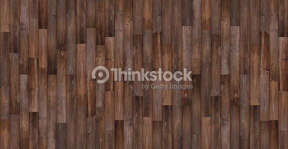 Seamless Wood Texture Panoramic Dark Floor Background Stock Photo