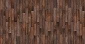Seamless wood texture, Panoramic dark wood floor texture background