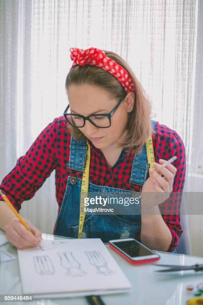 seamstress drawing templates in tracing paper