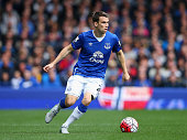 Seamus Coleman of Everton during the Barclays Premier League match between Everton and Chelsea at Goodison Park on September 12 2015 in Liverpool...