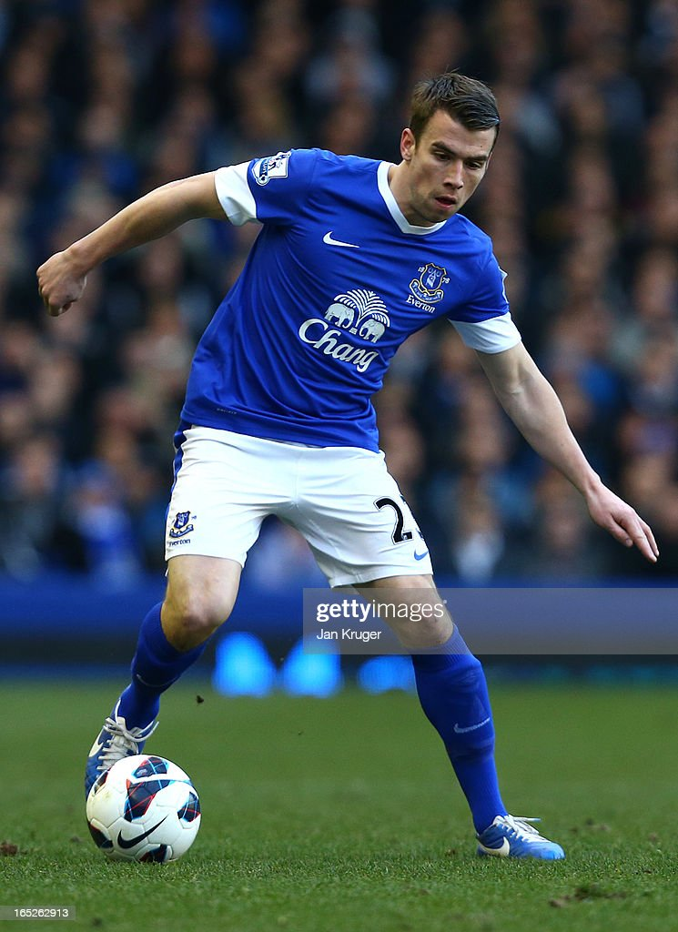 <a gi-track='captionPersonalityLinkClicked' href=/galleries/search?phrase=Seamus+Coleman&family=editorial&specificpeople=6005260 ng-click='$event.stopPropagation()'>Seamus Coleman</a> of Everton in action during the Barclays Premier League match between Everton and Stoke City at Goodison Park on March 30, 2013 in Liverpool, England.