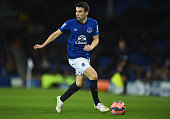 Seamus Coleman of Everton in action during the FA Cup Third Round match between Everton and West Ham United at Goodison Park on January 6 2015 in...
