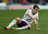 Seamus Coleman of Everton looks on during the Barclays Premier League match between Burnley and Everton at Turf Moor on October 26 2014 in Burnley...