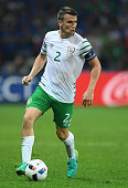 Seamus Coleman of Republic of Ireland in action during the UEFA EURO 2016 Group E match between Italy and Republic of Ireland at Stade PierreMauroy...