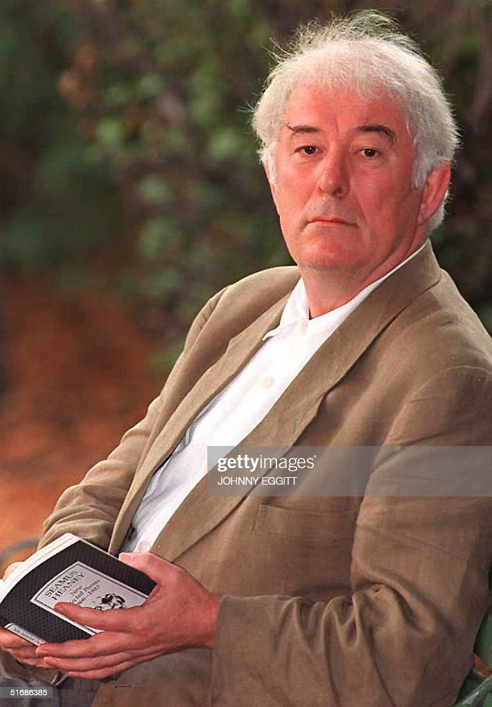 Seamus Heaney, the 1995 Nobel Prize winner for Literature, sits in a London park 12 October. Heaney said at a press conference that ' It is a great personal joy and deep satisfaction to have been awarded the Nobel Prize'.
