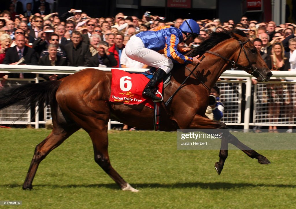 Seamus Hefferman and Frozen Fire land The Dubai Duty Free Irish Derby Race run at The Curragh Racecourse on June 29 at The Curragh Ireland
