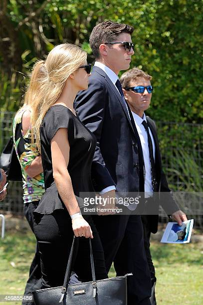 Sean Abbott arrives ahead of the Funeral Service for Phillip Hughes on December 3 2014 in Macksville Australia Australian cricketer Phillip Hughes...