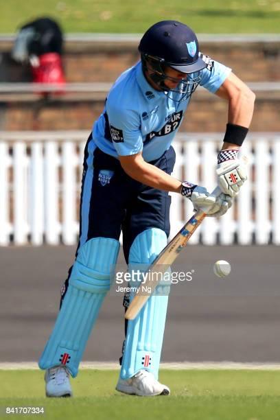 Sean Abbott of Cricket NSW bats during the Cricket NSW Intra Squad Match at Hurstville Oval on September 2 2017 in Sydney Australia