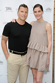 Sean Avery and Hilary Rhoda attend as Hamptons Magazine celebrates cover stars Sean Avery and Hilary Rhoda at Barn Vine on June 12 2015 in...
