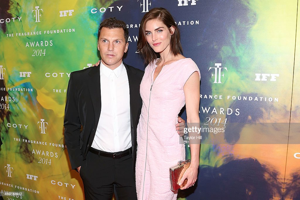 Sean Avery and Hilary Rhoda attend the 2014 Fragrance Foundation awards at Alice Tully Hall, Lincoln Center on June 16, 2014 in New York City.
