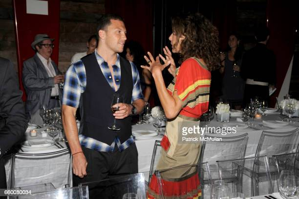 Sean Avery and Jacqueline Schnabel attend Dom Perignon and Vito Schnabel dinner in celebration of Terence Koh's book 'Flowers for Baudelaire' at The...