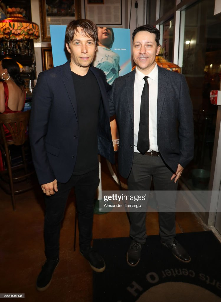 Sean Baker and Chris Bergoch are seen at CubaOcho during 'THE FLORIDA PROJECT' Miami Premiere after party on October 5, 2017 in Miami, Florida.