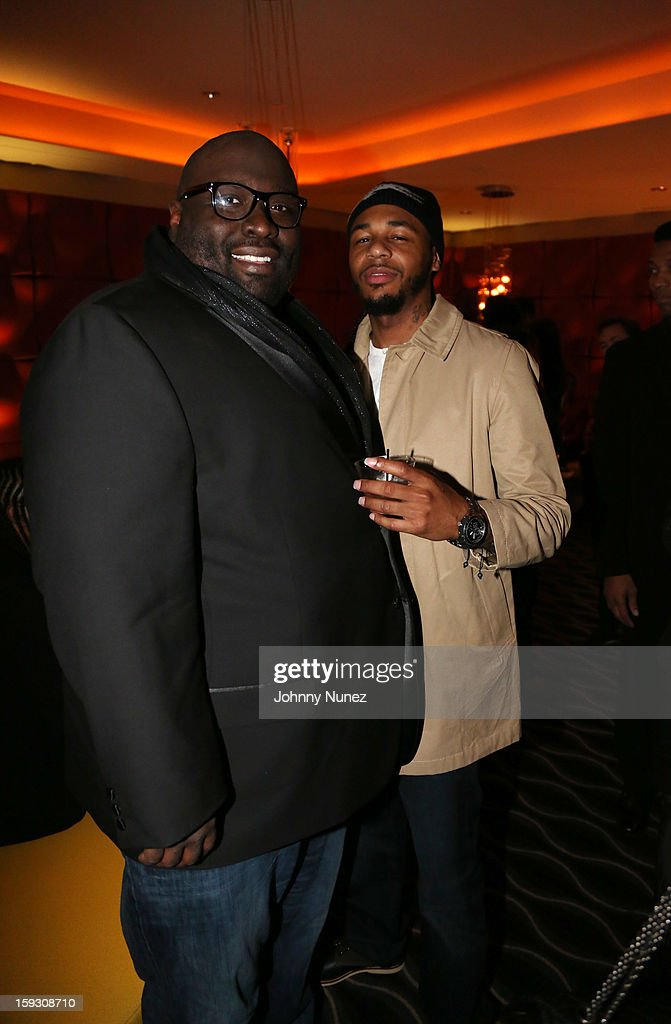 <a gi-track='captionPersonalityLinkClicked' href=/galleries/search?phrase=Sean+Banks&family=editorial&specificpeople=757309 ng-click='$event.stopPropagation()'>Sean Banks</a> and Hayward Armstrong attend the Los Angeles premiere screening of 'LUV' at Pacific Design Center on January 10, 2013 in West Hollywood, California.