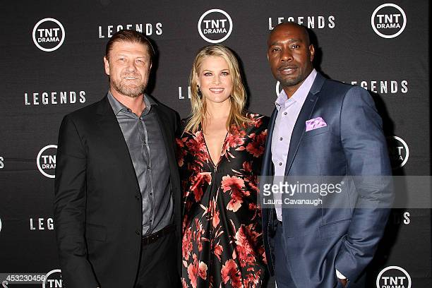 Sean Bean Ali Larter and Morris Chestnut attend the 'Legends' Series Premiere at Tribeca Grand Screening Room on August 5 2014 in New York City