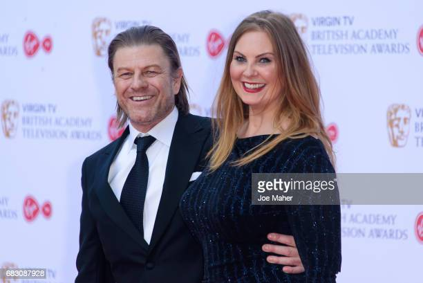 Sean Bean and Ashley Moore attend the Virgin TV BAFTA Television Awards at The Royal Festival Hall on May 14 2017 in London England