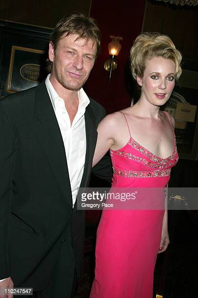 Sean Bean and Georgina Sutcliffe during 'The Island' New York City Premiere Inside Arrivals at Ziegfeld Theater in New York City New York United...
