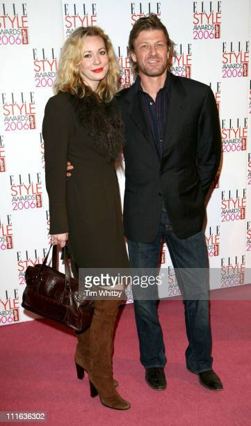 Sean Bean and guest during Elle Style Awards 2006 Outside Arrivals at Old Truman Brewery in London Great Britain
