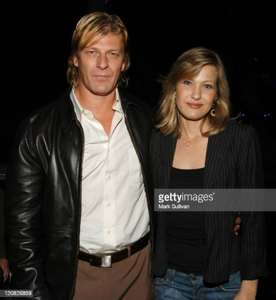 Sean Bean and Joey Lauren Adams during AFI Premiere Screening of 'The Big Empty' After Party at ArcLight Theatre in Hollywood California United States