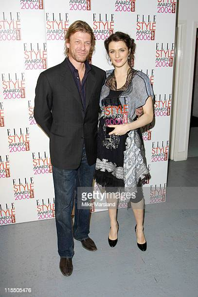 Sean Bean and Rachel Weisz during Elle Style Awards 2006 Press Room at Old Truman Brewery in London Great Britain