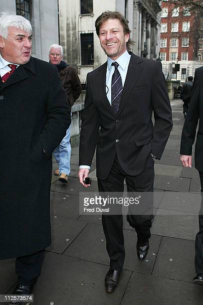 Sean Bean arrives at his wedding to Georgina Sutcliffe at Westminister Register Office in Marylebone on February 19 2008 in London England