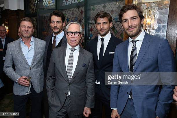 Sean Bean David Gandy Tommy Hilfiger Johannes Huebl and Robert Konjic attend the Tommy Hilfiger Dinner on June 14 2015 in London England