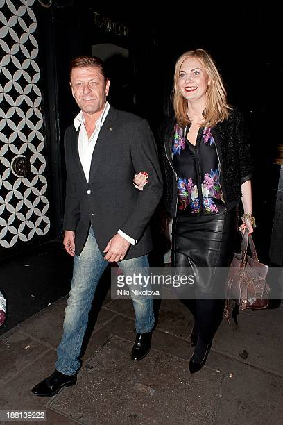 Sean Bean is sighted leaving The Groucho Club Soho on November 16 2013 in London England