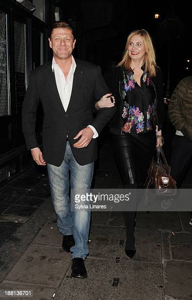 Sean Bean leaving The Groucho Club on November 15 2013 in London England