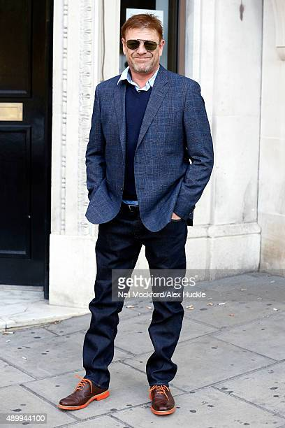 Sean Bean seen arriving at the Absolute Radio Studios on September 25 2015 in London England Photo by Neil Mockford/Alex Huckle/GC Images