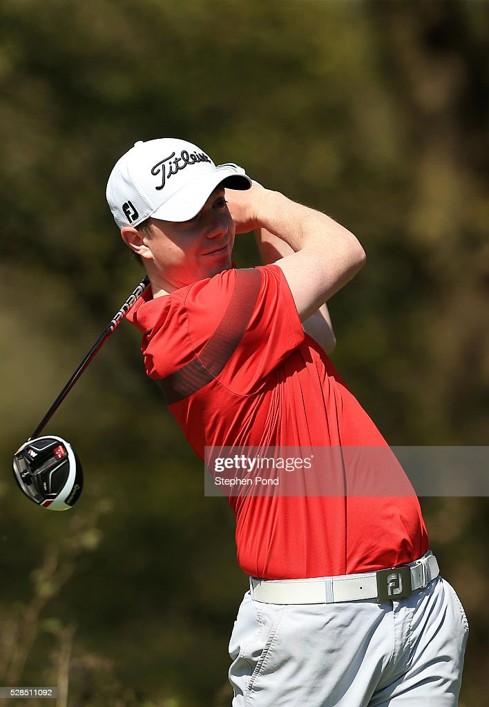 Sean Brady of De Vere Dunston Hall during the PGA Assistants Championship East Qualifier at Ipswich Golf Club on May 5, 2016 in Ipswich, England.