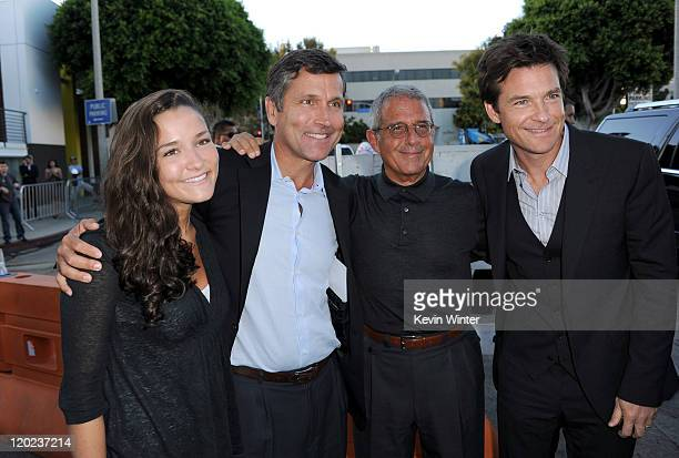 Sean Burke Chief Executive Officer of NBC Universal Steve Burke Universal Studios President and COO Ron Meyer and actor Jason Bateman arrive at the...