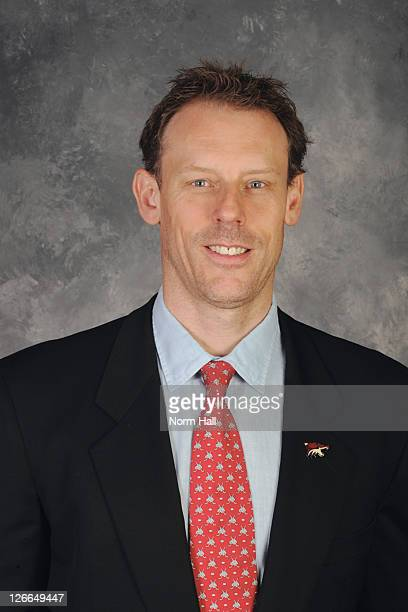 Sean Burke of the Phoenix Coyotes poses for his official headshot for the 20102011 NHL season