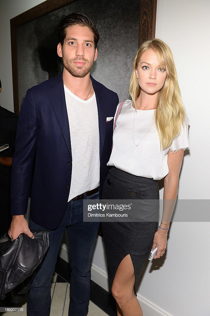 Sean Clayton and <a gi-track='captionPersonalityLinkClicked' href=/galleries/search?phrase=Lindsay+Ellingson&family=editorial&specificpeople=4248292 ng-click='$event.stopPropagation()'>Lindsay Ellingson</a> attend the Peter Lindbergh artist reception presented by Vladimir Restoin Roitfeld on September 7, 2013 in New York City.