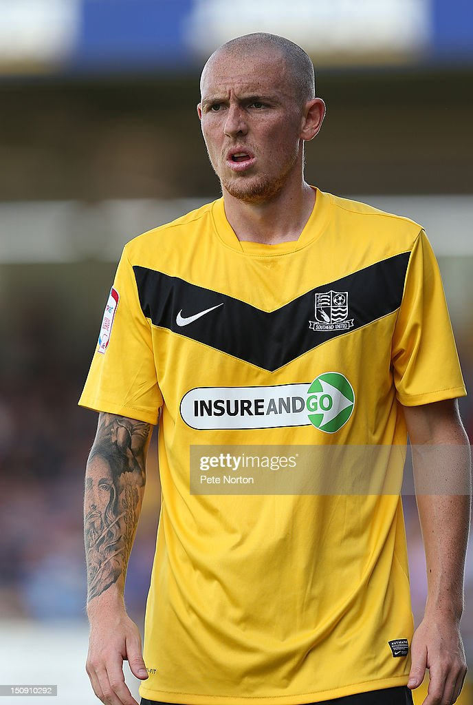 Sean Clohessy of Southend United in action during the npower League Two match between Northampton Town and Southend United at Sixfields Stadium on August 25, 2012 in Northampton, England.