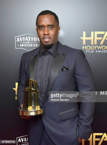 Sean Combs aka Brother Love recipient of the Hollywood Documentary Award for 'Can't Stop Won't Stop A Bad Boy Story' poses in the press room during...