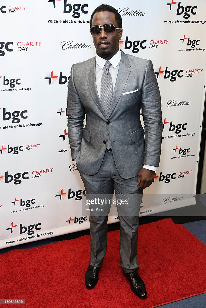 <a gi-track='captionPersonalityLinkClicked' href=/galleries/search?phrase=Sean+Combs&family=editorial&specificpeople=178993 ng-click='$event.stopPropagation()'>Sean Combs</a>, aka P. Diddy attends the 2013 Cantor Fitzgerald And BGC Partners Charity Day at BGC Partners on September 11, 2013 in New York City.