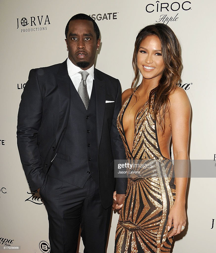 Sean Combs and Cassie Ventura attend the premiere of 'The Perfect Match' at ArcLight Hollywood on March 7 2016 in Hollywood California