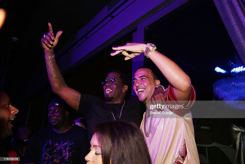 <a gi-track='captionPersonalityLinkClicked' href=/galleries/search?phrase=Sean+Combs&family=editorial&specificpeople=178993 ng-click='$event.stopPropagation()'>Sean Combs</a> and <a gi-track='captionPersonalityLinkClicked' href=/galleries/search?phrase=French+Montana&family=editorial&specificpeople=7131467 ng-click='$event.stopPropagation()'>French Montana</a> attend the 2013 VMA After Party at PhD (Dream Downtown Hotel Rooftop) on August 25, 2013 in New York City.