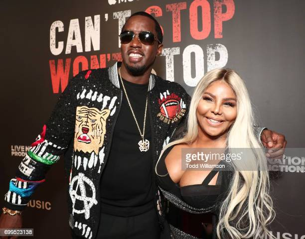 Sean Combs and Lil' Kim attend the Los Angeles Premiere of 'Can't Stop Won't Stop' at the Writers Guild of America West on June 21 2017 in Los...