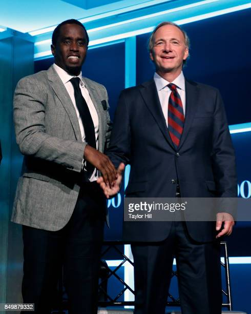 Sean Combs and Ray Dalio attend the Forbes Media Centennial Celebration at Pier 60 on September 19 2017 in New York City