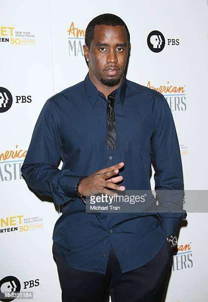 Sean Combs arrives at the Los Angeles premiere of 'Inventing David Geffen' held at Writer's Guild Theater on November 13 2012 in Los Angeles...