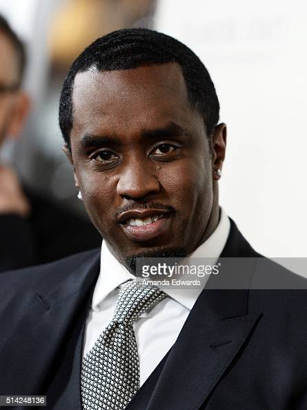 Sean Combs arrives at the premiere of Lionsgate's 'The Perfect Match' at ArcLight Hollywood on March 7 2016 in Hollywood California