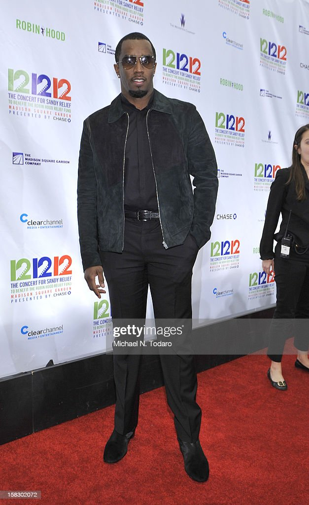 Sean Combs attends 12-12-12 the Concert for Sandy Relief at Madison Square Garden on December 12, 2012 in New York City.