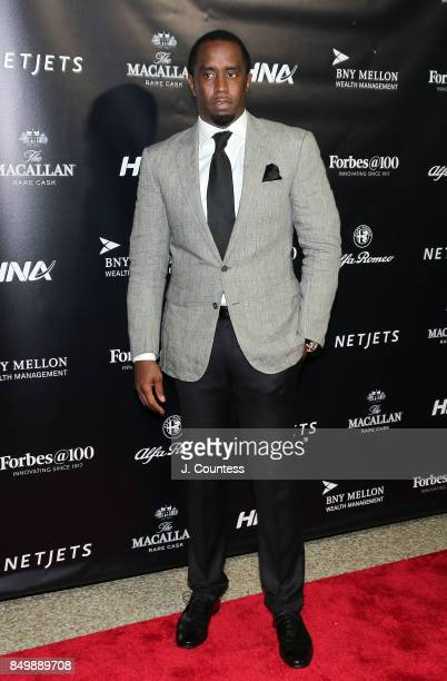 Sean Combs attends the Forbes Media Centennial Celebration at Pier 60 on September 19 2017 in New York City
