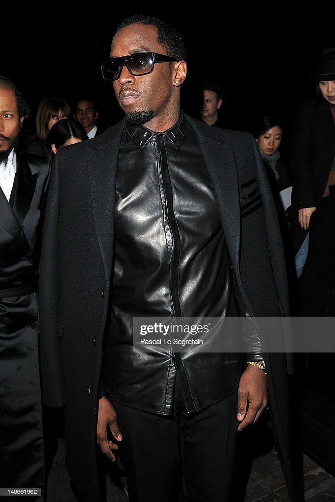 <a gi-track='captionPersonalityLinkClicked' href=/galleries/search?phrase=Sean+Combs&family=editorial&specificpeople=178993 ng-click='$event.stopPropagation()'>Sean Combs</a> attends the Givenchy Ready-To-Wear Fall/Winter 2012 show as part of Paris Fashion Week at Lycee Carnot on March 4, 2012 in Paris, France.