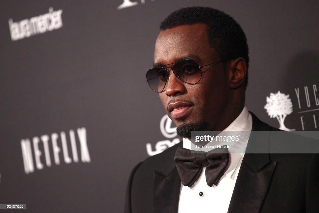 <a gi-track='captionPersonalityLinkClicked' href=/galleries/search?phrase=Sean+Combs&family=editorial&specificpeople=178993 ng-click='$event.stopPropagation()'>Sean Combs</a> attends the Weinstein Company's 2014 Golden Globe Awards after party on January 12, 2014 in Beverly Hills, California.