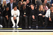 Sean Combs Ben Stiller and Christine Taylor attend The 64th NBA AllStar Game 2015 on February 15 2015 in New York City