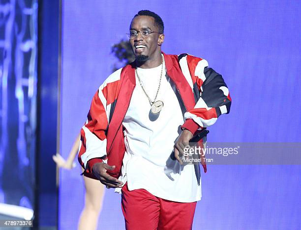 Sean Combs performs onstage during the 2015 BET Awards held at Microsoft Theater on June 28 2015 in Los Angeles California