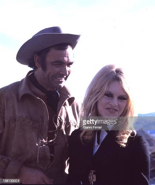 Sean Connery and Brigitte Bardot during the filming of the movie 'Shalako' Almeria