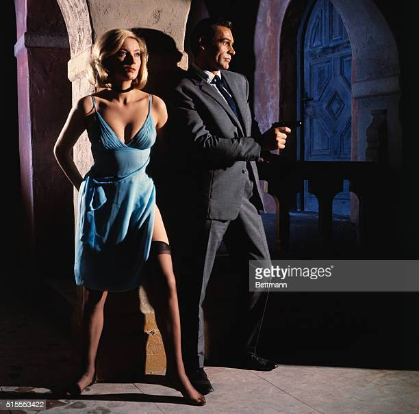Sean Connery and Daniela Bianchi in the James Bond film From Russia With Love